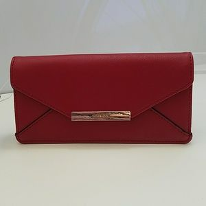 NINE WEST PALOMA WALLET LOVELY RUBY RED